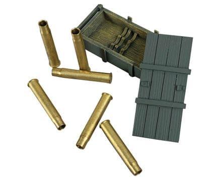WB25085 German 88mm  Gun Crate + Empty Shells